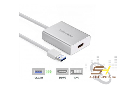 Bộ Chuyển Đổi Ugreen USB 3.0 Sang HDMI-DVI